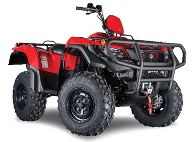 ​2018 SUZUKI KINGQUAD 500AXI ​POWER-STEERING SPECIAL EDITION RED